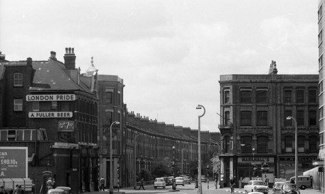 Talgarth Road crossroad with North End Road prior to widening